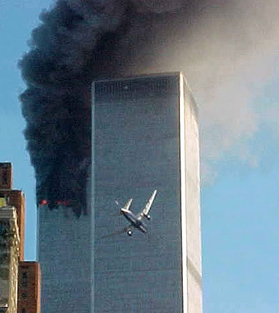 United 151 about to impact the World Trade Center